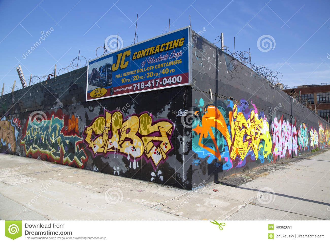 Graffiti wall in queens ny - Graffiti Wall At East Williamsburg Neighborhood In Brooklyn New York Download From Over 36