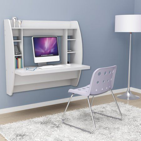Prepac Tall Wall Hanging Desk White Products In 2019