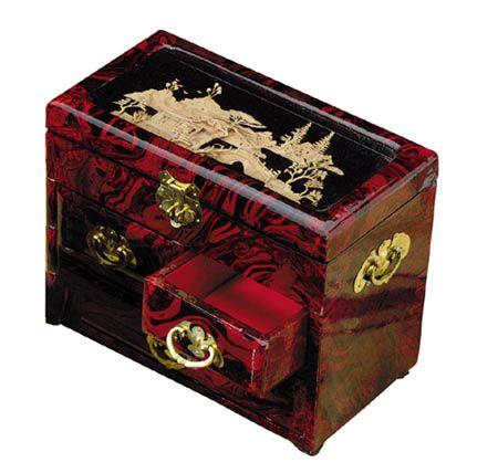 jewelry box japanese oriental jewelry box three drawer asian