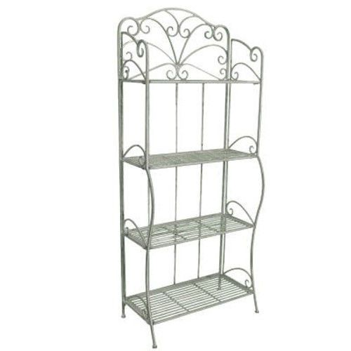 Details About Vintage Shabby Chic French Look 4 Tier Metal Shelf