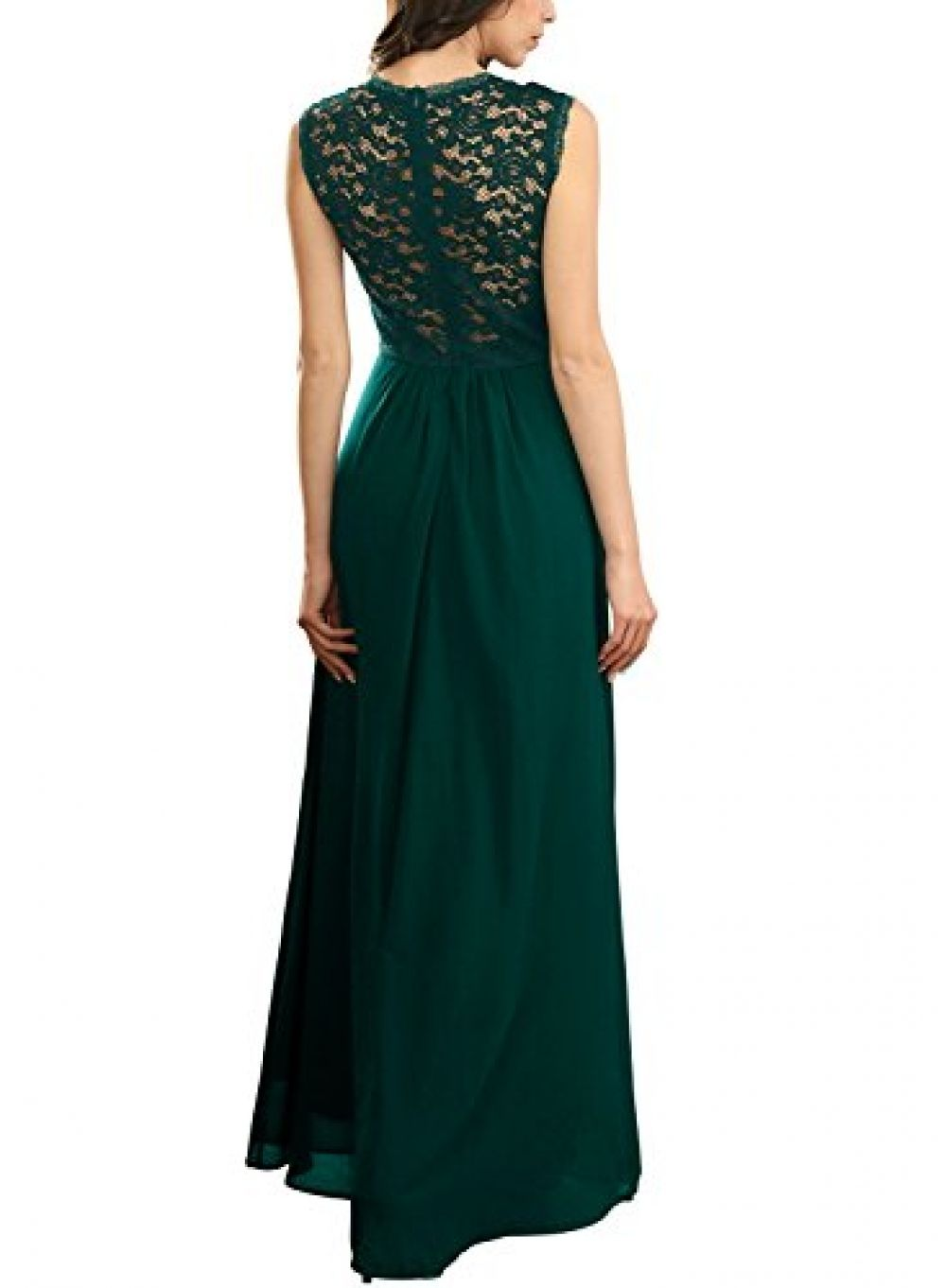 Miusol womenus casual deep v neck sleeveless vintage wedding maxi