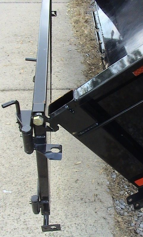 Dump Trailer Rear Door Hinges With Spring Latch To Lock In Open Position Dump Trailers Door Hinges Latches