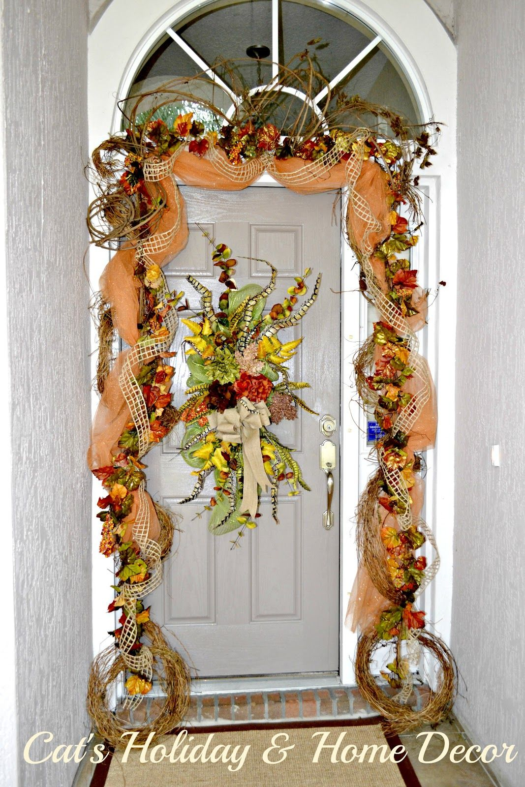Grape vine for crafts - Decorating With Grapevine Garland Cat S Holiday Home Decor Musings