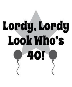 Free Lordy Look Whos 40 Clipart