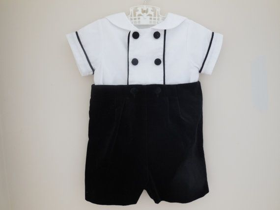 Size 18 months Vintage Eiseman Black Velvet Velour Infant Toddler ...