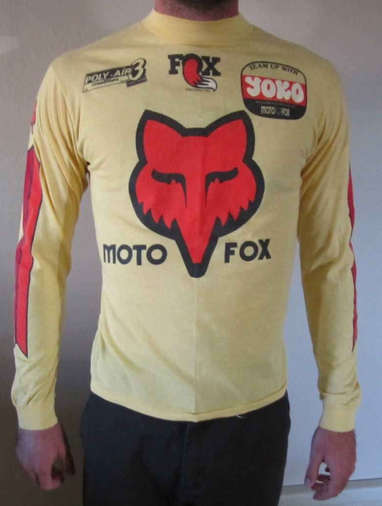 Last Call For Vintage Moto X Fox Jersey Vintage Motocross Biking Outfit Yamaha Motocross