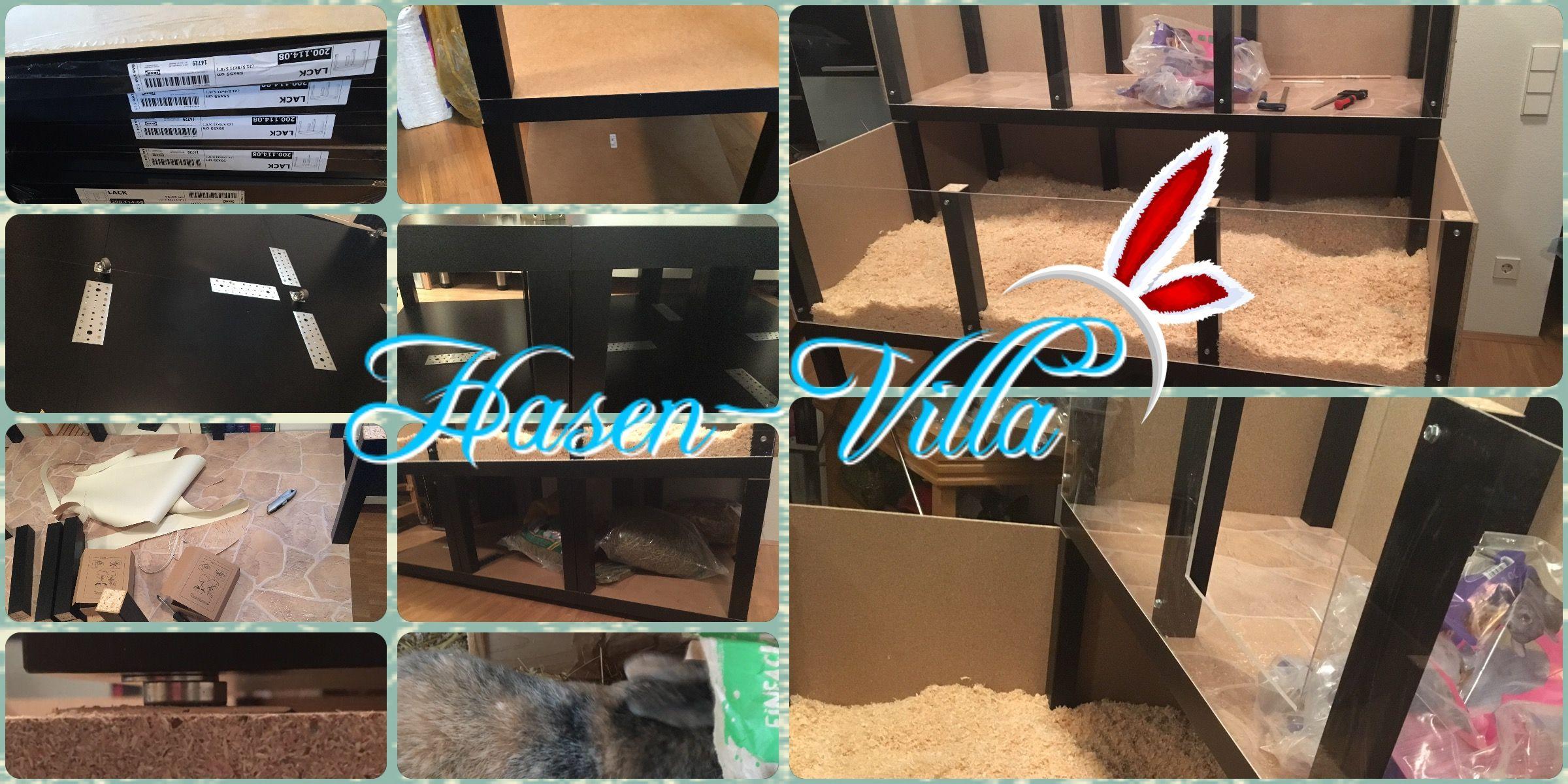 Hasen Villa Erstellt Mit Ikea Lack Tischen Hasen Kafig Hase Ikea