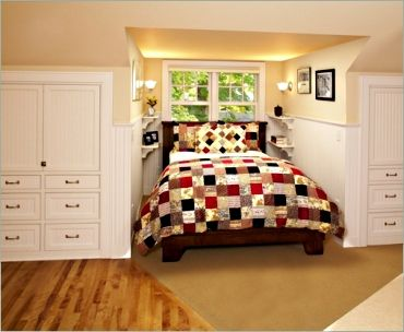 I would love to add cabinets drawers to my cape cod for Cape bedroom ideas