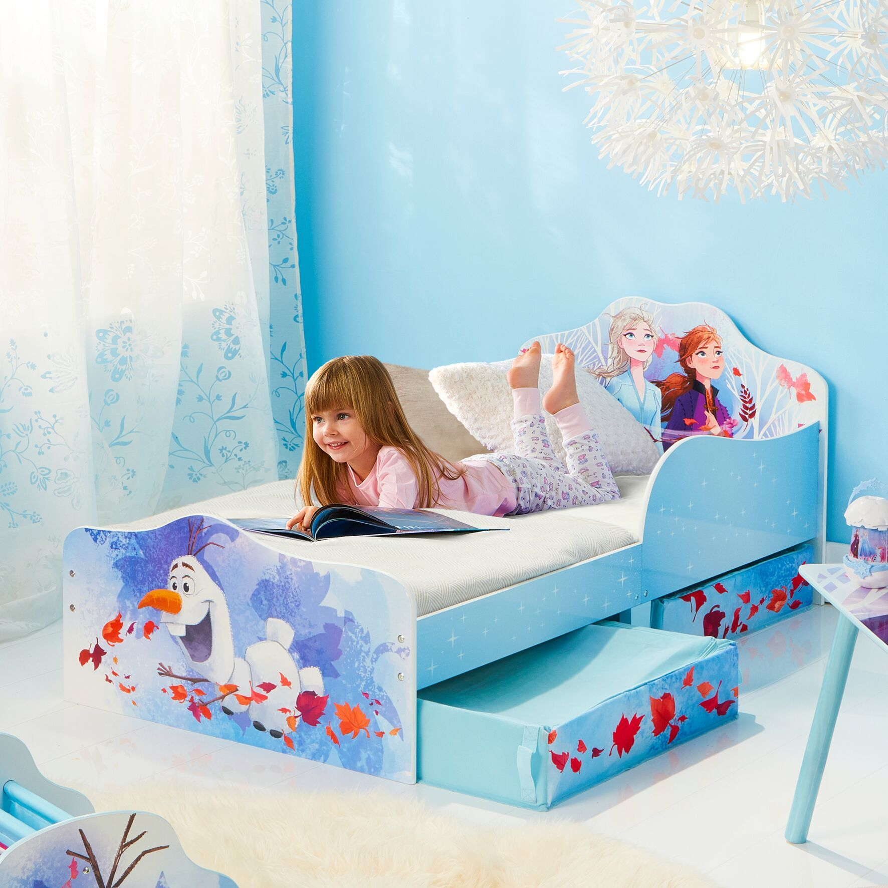 Disney Frozen 2 Kids Toddler Bed With Storage Toddler Bed With Storage Kids Toddler Bed Toddler Bed