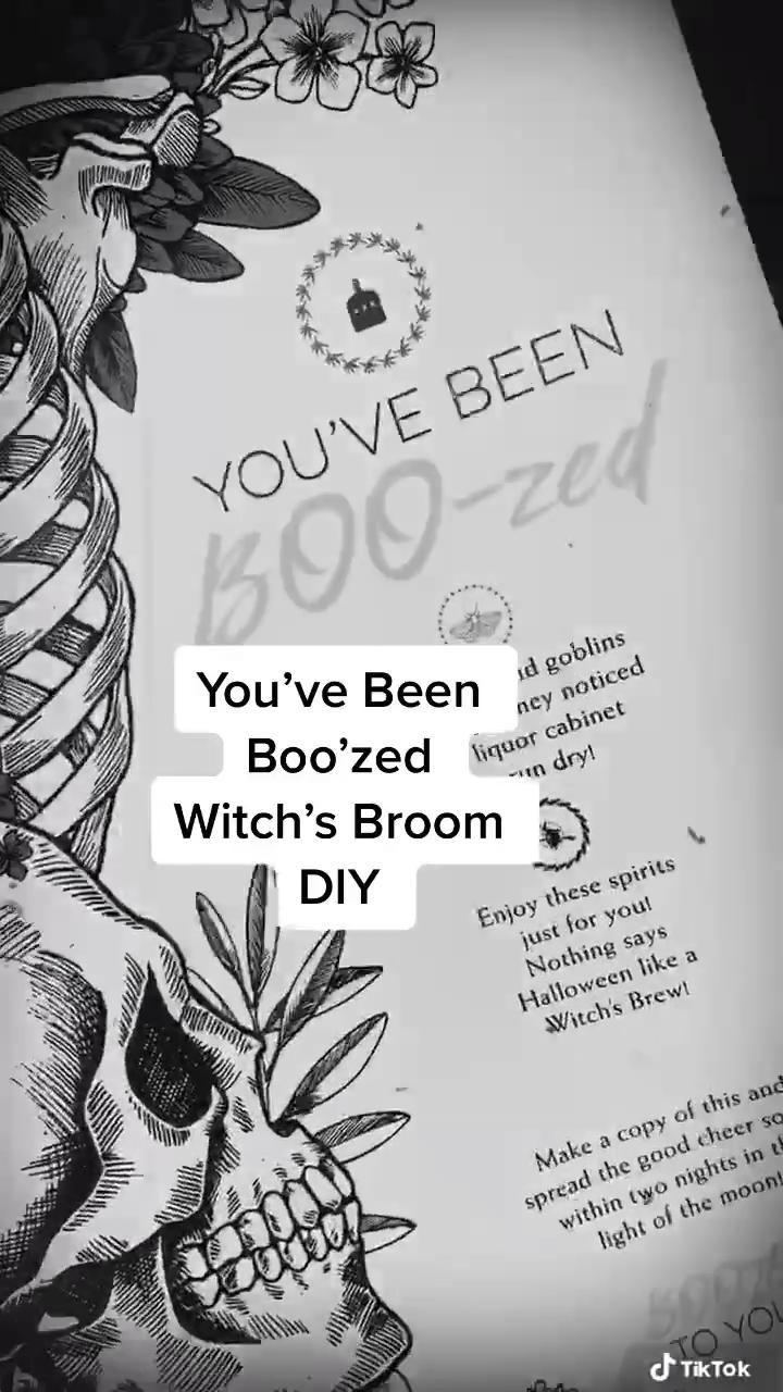 You Ve Been Boo Zed Diy Witch S Broom Video Halloween Crafts Diy Halloween Decorations Halloween