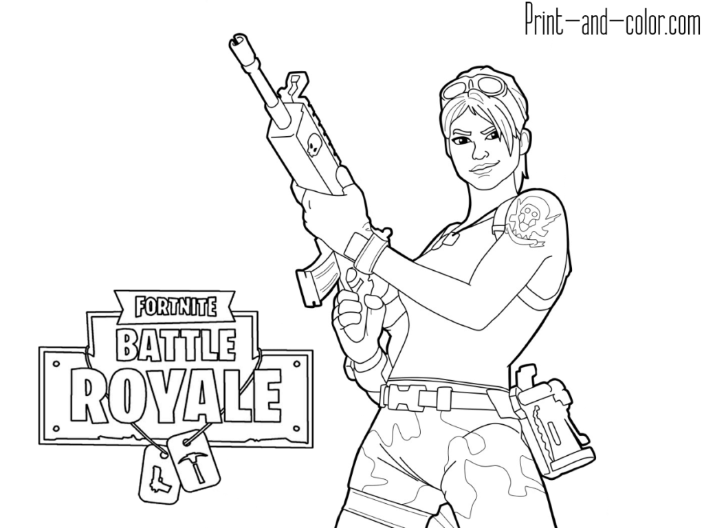 Fortnite Battle Royale Raven coloring page to print | 768x1024