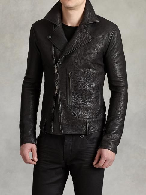 on Lookastic Men's 2018 in Leather by Pinterest Pin Jackets wEZ1Bq