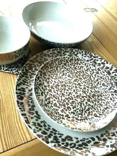 Leopard Dinnerware Set Animal Print Dinnerware Animal Print