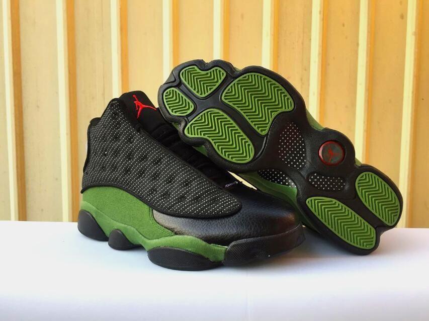 Air Jordan 13 Black Olive Green