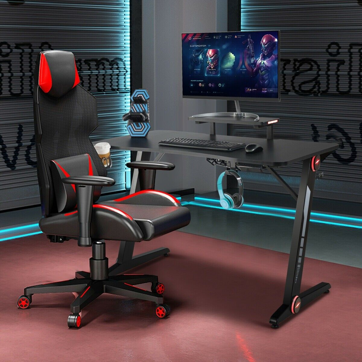 Gaming Desk PC Computer Table with RGB Lights in 2020
