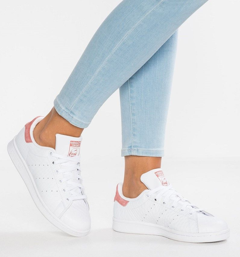 super popular 176ee 58d09 Adidas Originals STAN SMITH Baskets basses footwear white raw pink - Zalando