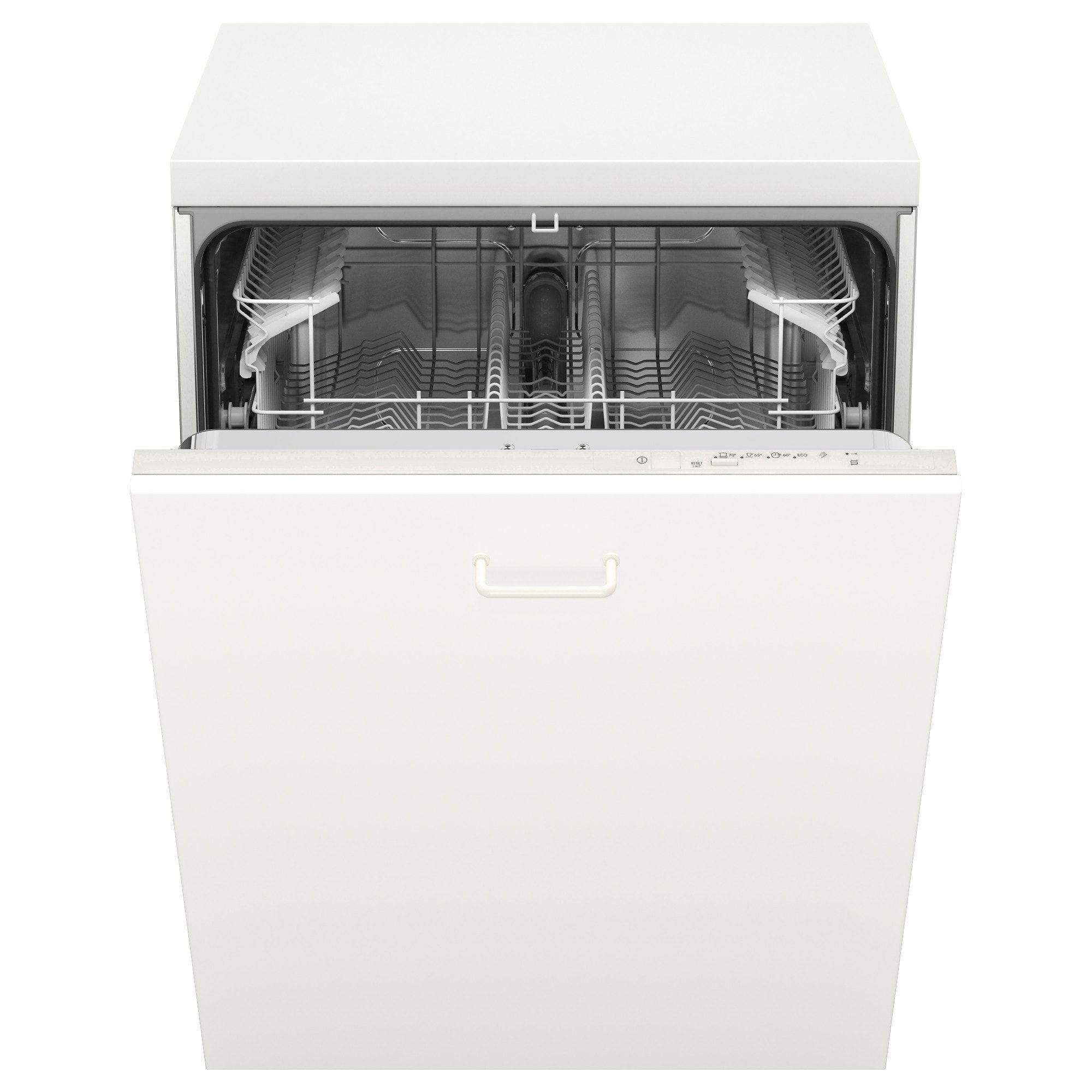 LAGAN Integrated dishwasher, white Integrated dishwasher