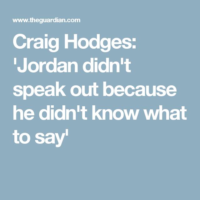 Craig Hodges: 'Jordan Didn't Speak Out Because He Didn't