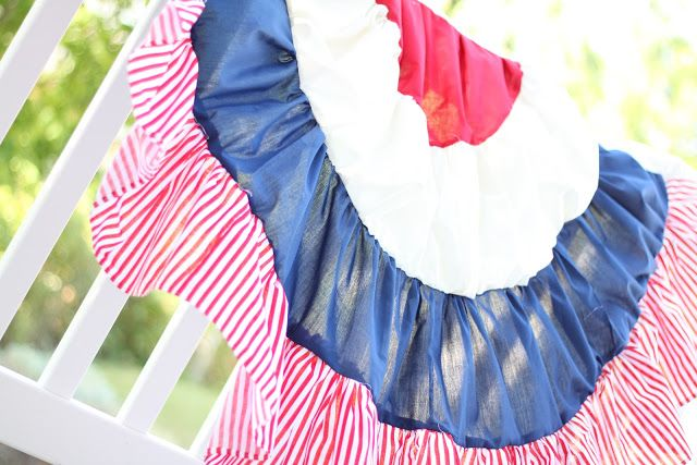 do it yourself divas DIY Semi-Circle American Flag patterns