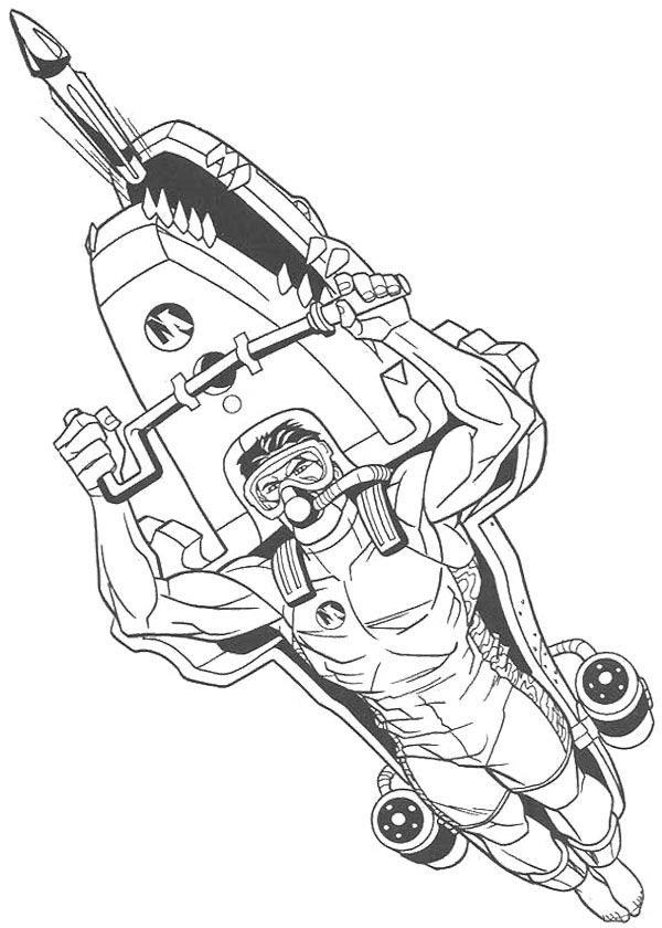 Action Man Fighter Aircraft Coloring Page