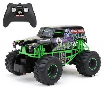 cool new grave digger rc remote control truck monster jam toy racing car for kids
