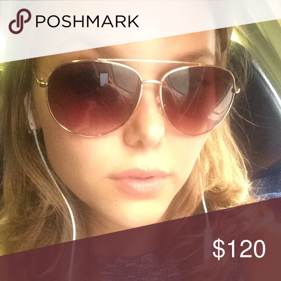 "Michael Kors sunglasses Rose gold glass color. ""Cop glasses"" Michael Kors Accessories Sunglasses"