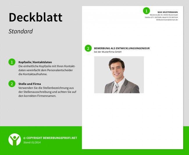deckblatt bewerbung standard - Deckblatt Fr Bewerbung