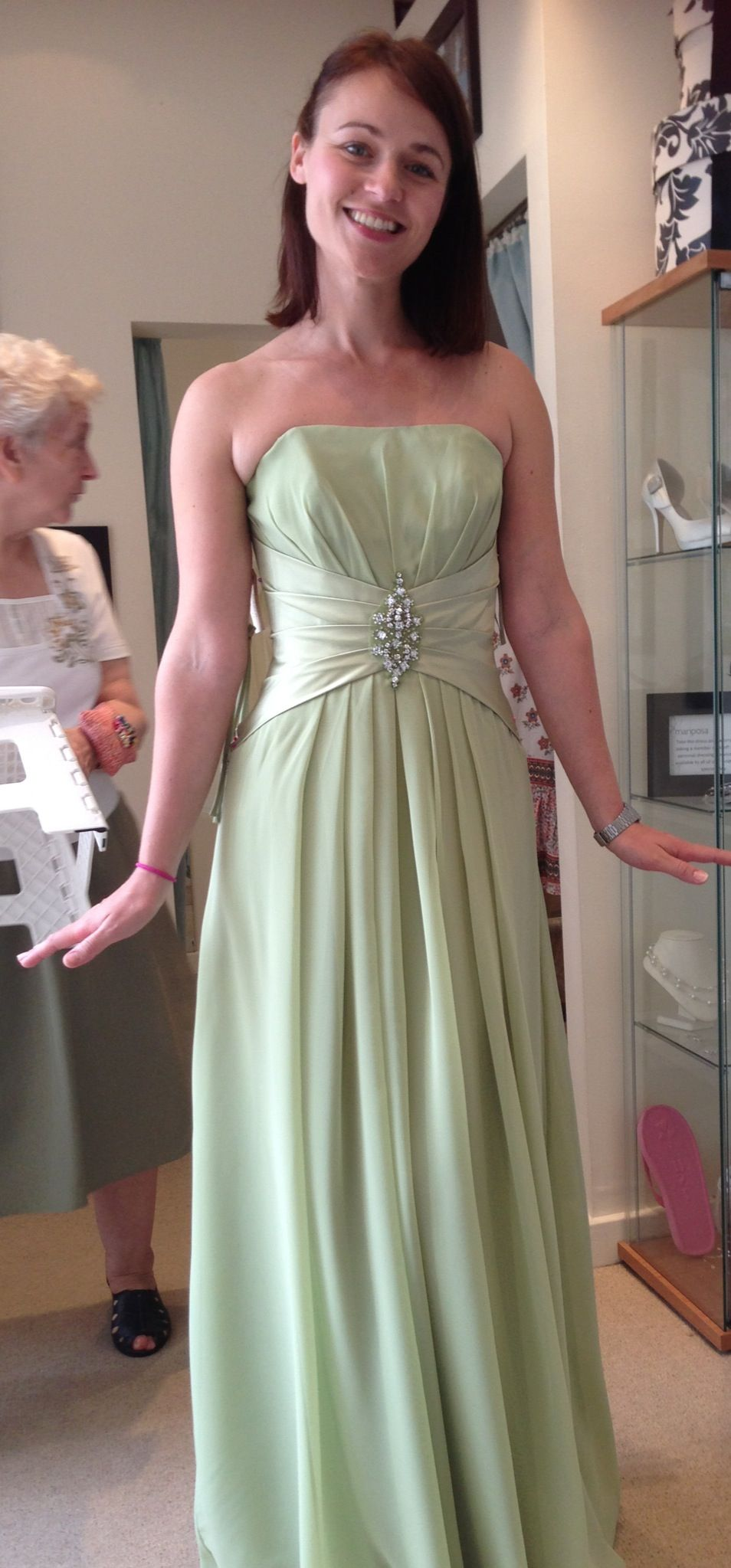 Green bridesmaid dress floor length ebony rose monica in green bridesmaid dress floor length ebony rose monica in pistachio ombrellifo Image collections