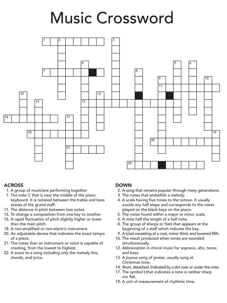 Crossword Puzzles For Adults Crossword Puzzles Crossword