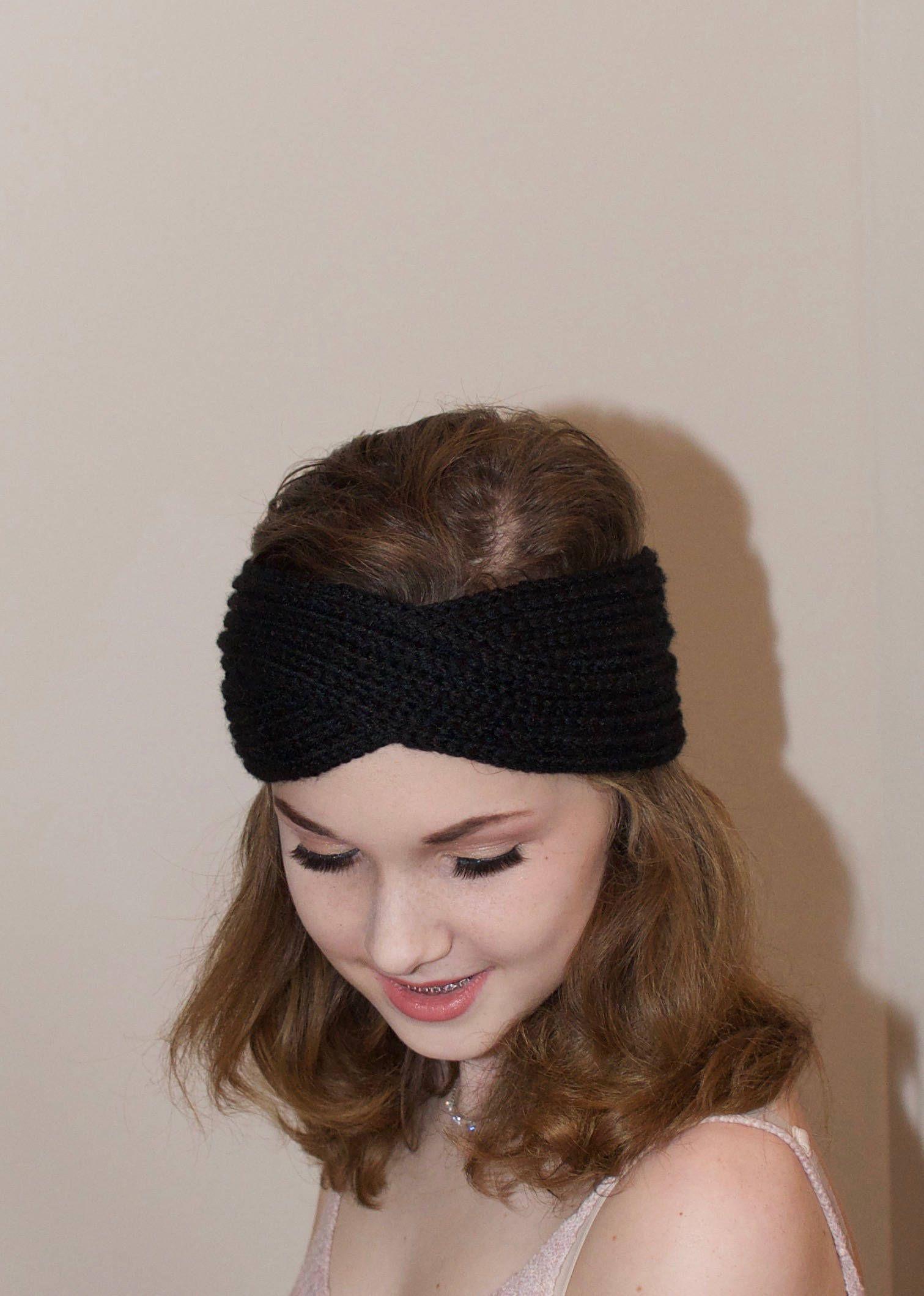 dd812f5d3a6 Black Turban Criss Cross Headband Black ear warmer Teen Girl Winter  Headband Black Teen Girl Headband Christmas Gift under 20 by lucymir on Etsy