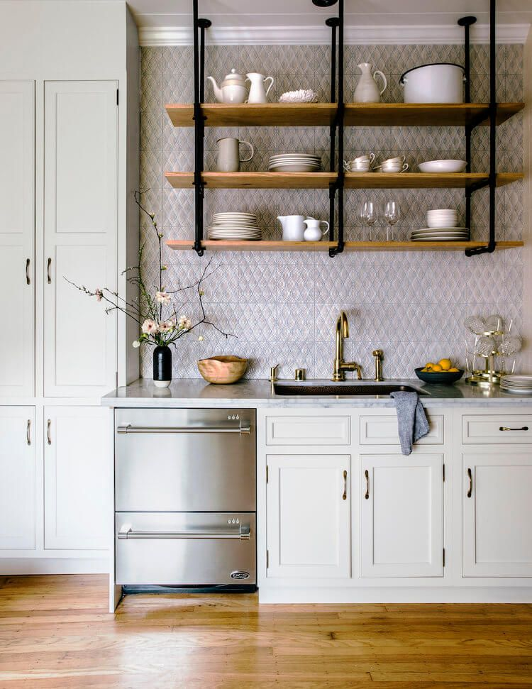 6 reasons to choose open kitchen shelves instead of on kitchen shelves instead of cabinets id=13345