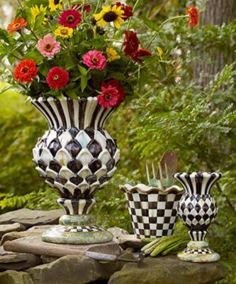 Mackenzie Childs Flower Basket Planter Small