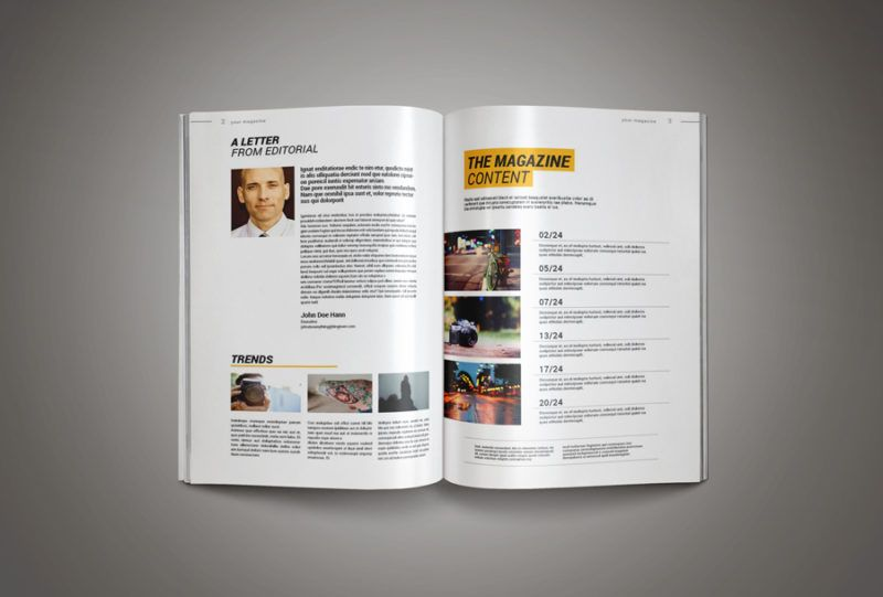 professional magazine template inkdesign pinterest template