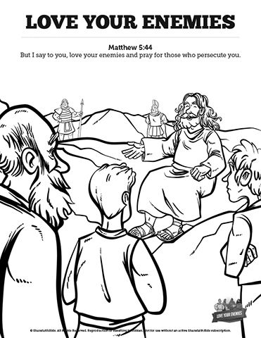 Matthew 5 Love Your Enemies Sunday School Coloring Pages Let Your