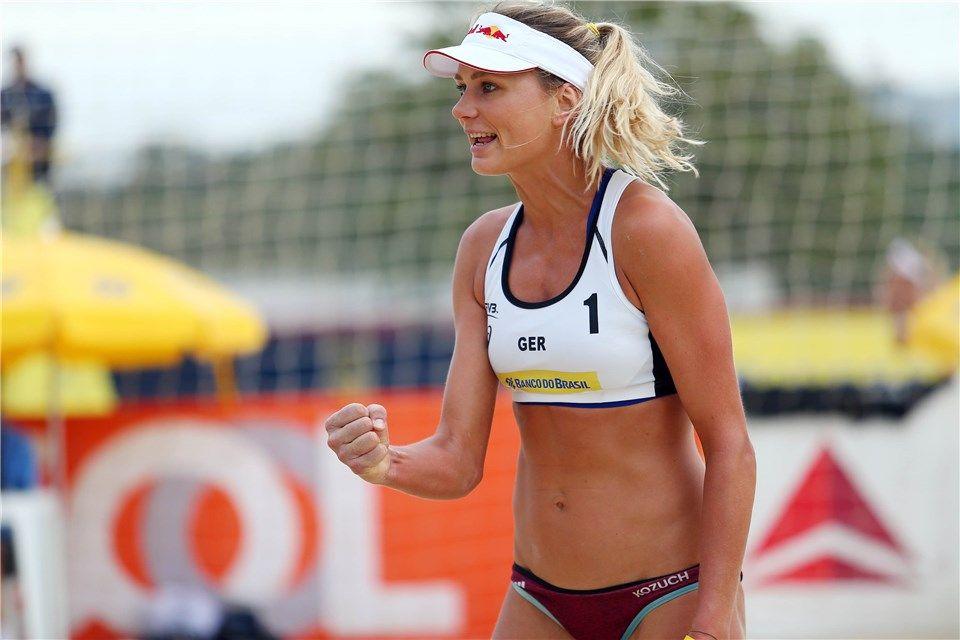 a89f8e70c Germany s Margareta Kozuch celebrates. Bekijk deze pin en meer op Vôlei de  praia ...