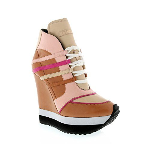 cheap sale footlocker finishline from china online Ruthie Davis Leather Wedge Sneakers sale good selling clearance marketable BHJcgvynt