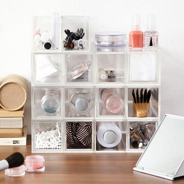 Aufbewahrung MUJI Makeup Aufbewahrung Pinterest Makeup - schminktisch ideen aufbewahrung