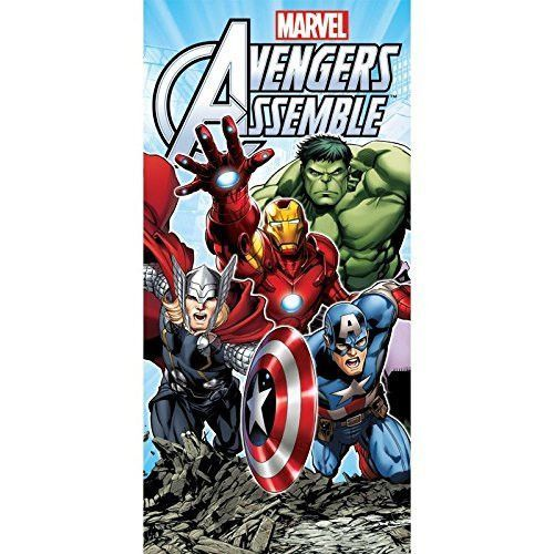 Marvel Avengers Hulk Thor Iron Man & Captain America Beach / Bath Towel