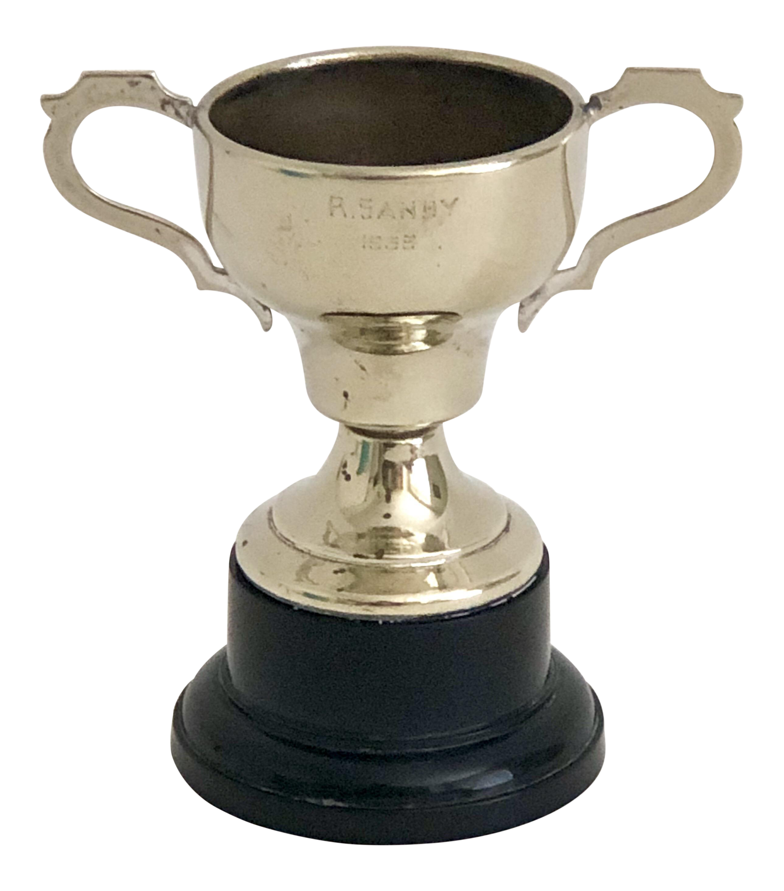 1959 Silver Trophy Sandy On Chairish Com Trophy Engraving Silver Plate Glassware