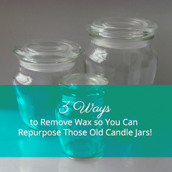 how to get old candle wax stains out of clothes