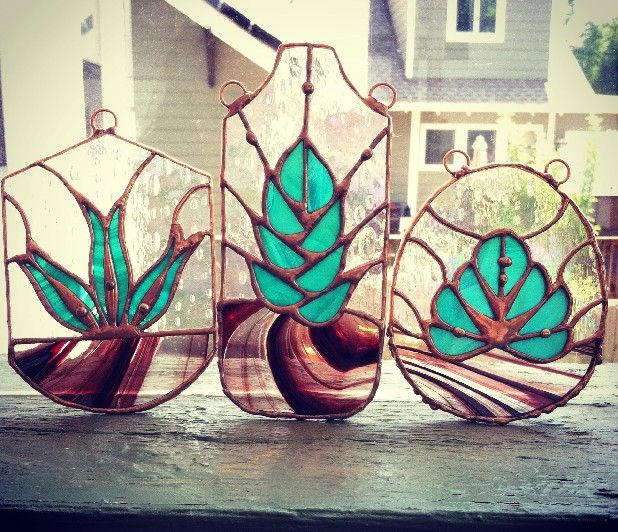stained glass succulents... Beautiful!!!