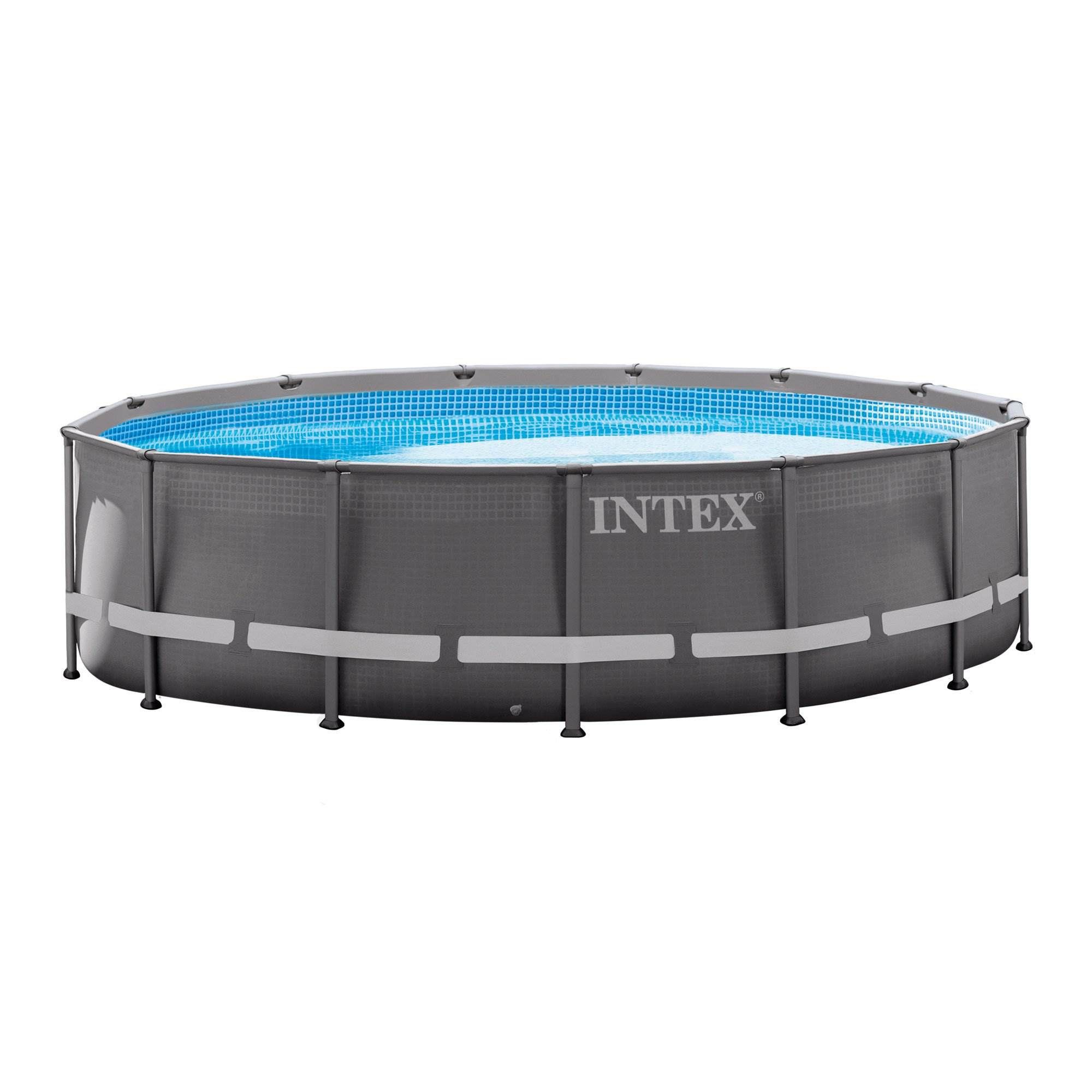 Intex 14ft x 42in Ultra Frame Above Ground Swimming Pool Set with Ladder & Pump