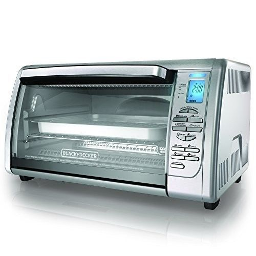 Countertop Convection Oven Stainless Steel Toaster Broiler Kitchen