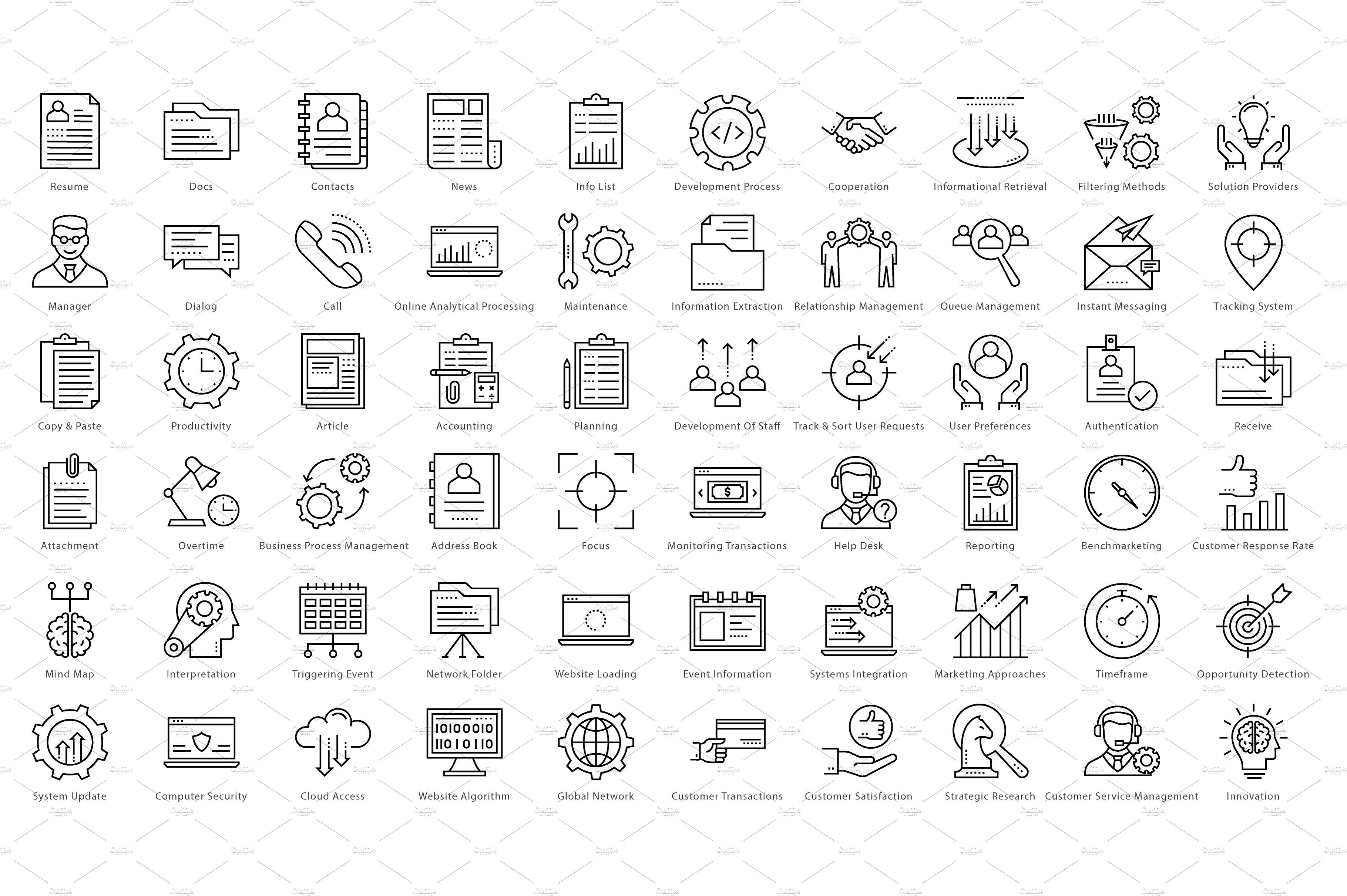 1270 Business Line Icons icon, flaticon, icons, icon pack