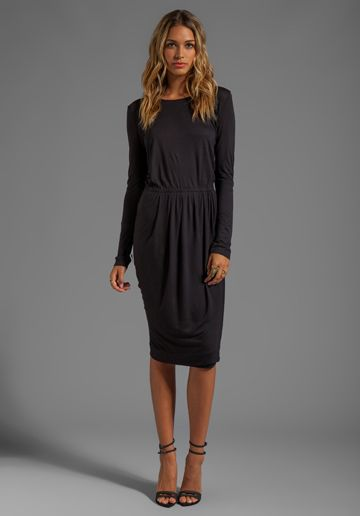 937b3a29658 BY MALENE BIRGER Viscose Jersey Kiho Dress in Black - Dresses | This ...