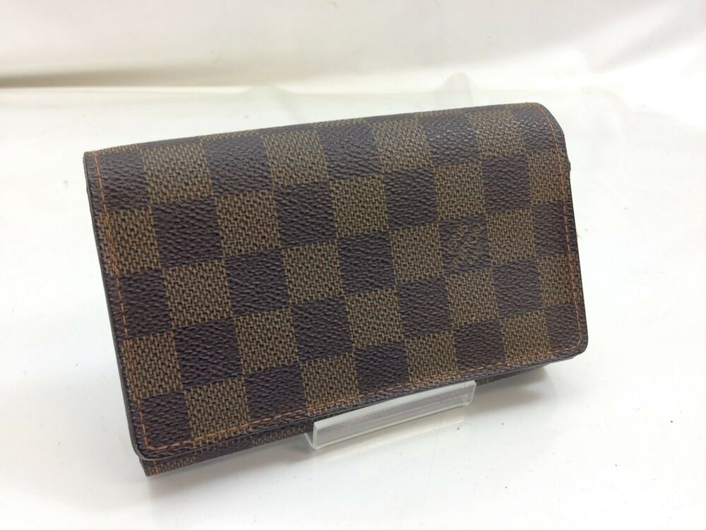 10b9c4155b69 Auth Louis Vuitton Damier Portefeuille Tresor Wallet Brown Vintage  9A110070Y  fashion  clothing  shoes  accessories  womensaccessories  wallets  (ebay link)