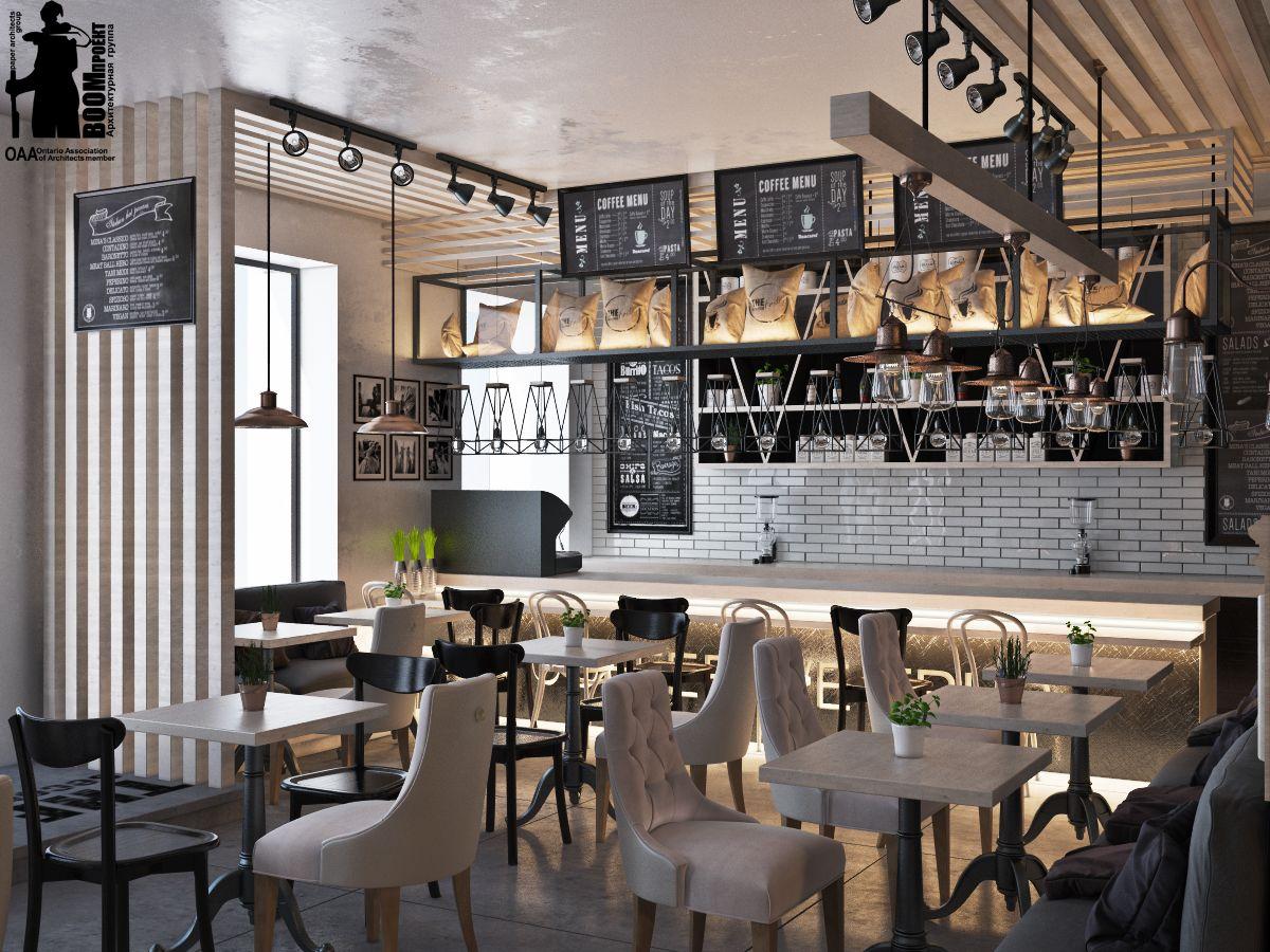 Loft cafe in Odessa. on Behance | inspiration | Pinterest | Loft ...