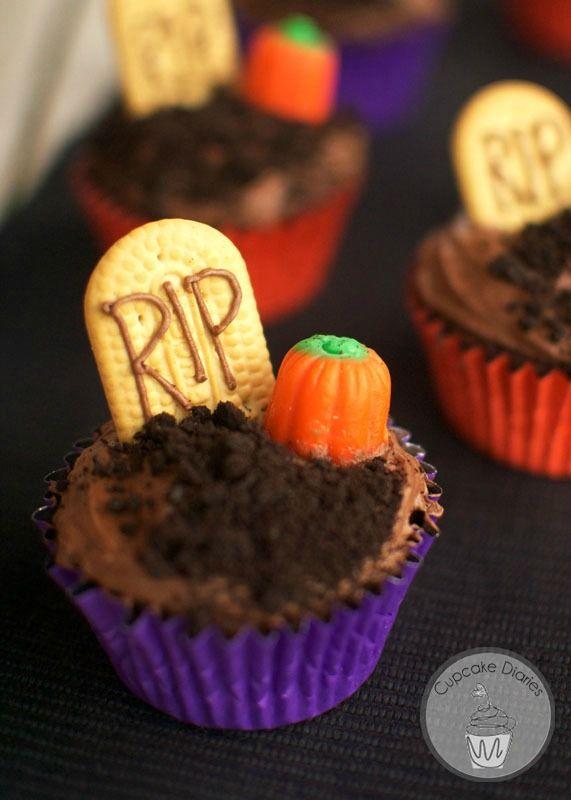 Graveyard Cupcakes Recipe Halloween Food For Party Halloween