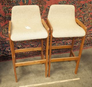 vintage bar stools upholstered with wood frames measures 41 tall by