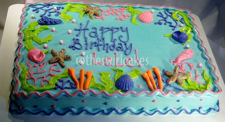 Underwater Sheet Cake Google Search Birthdays Holidays